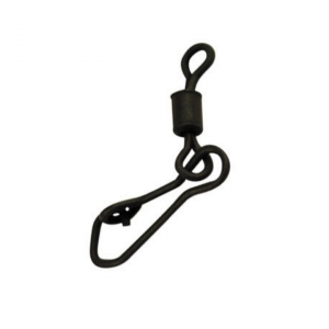 Вертлюжки с застёжкой Silver Stream Rolling Swivel with Hook Snap №8, Black