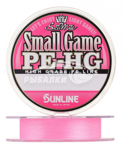 Плетёный шнур Sunline Small Game PE HG New 150м, #0.4, Розовый