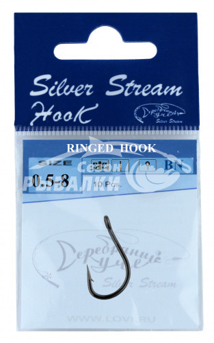 Крючки Silver Stream RINGED HOOK №5