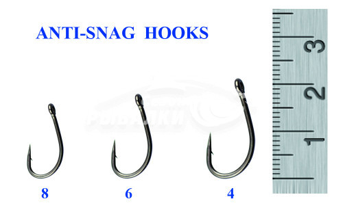 Крючки Silver Stream Anti-snag hooks №6